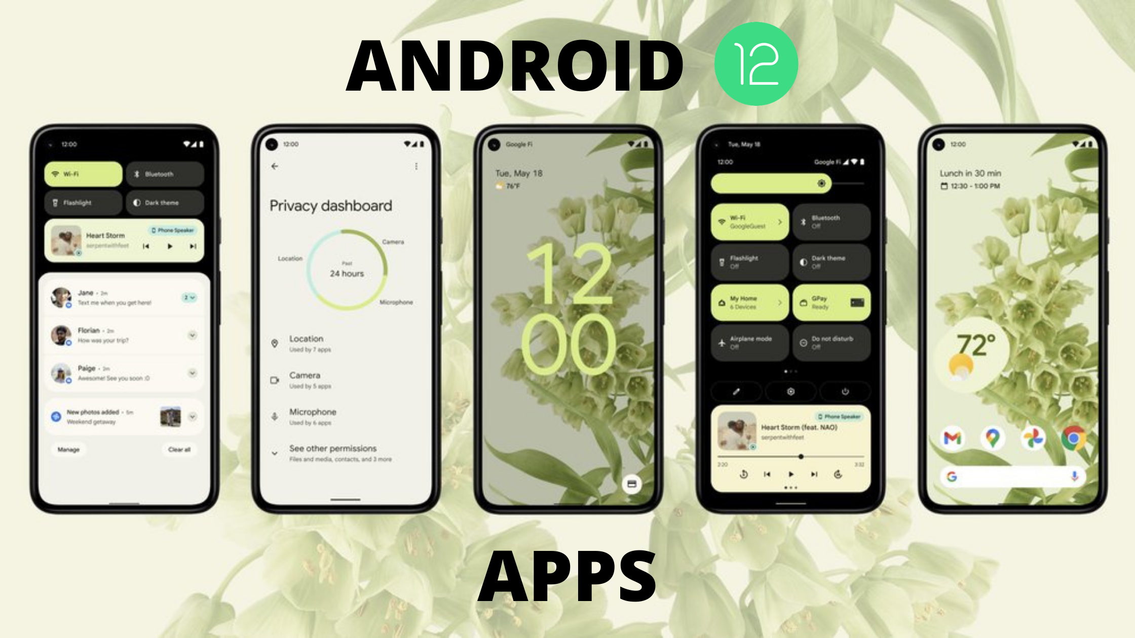 Android 12 Apps for any Android Smartphone: Download them!!